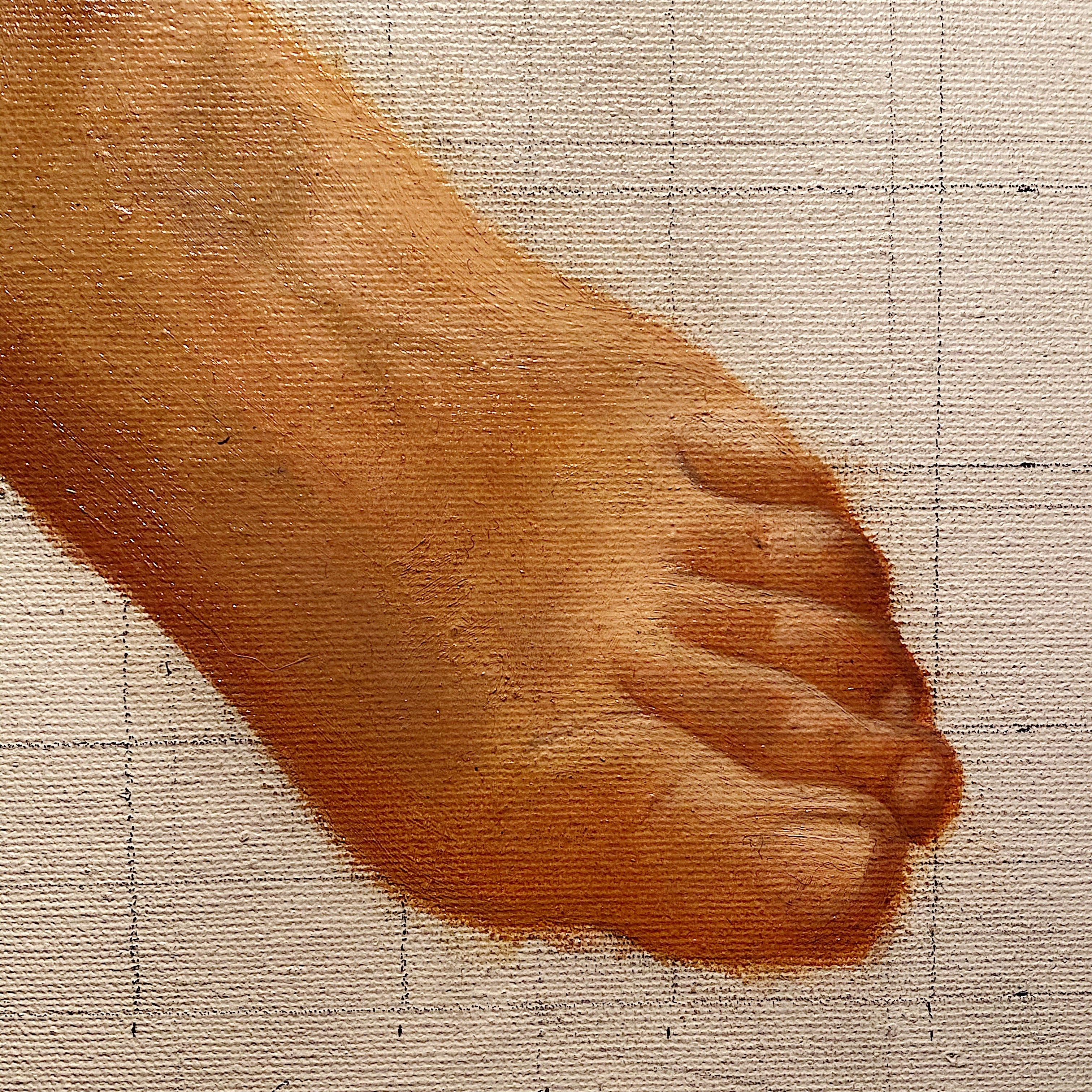 Unusual Vintage Painting of Bare Foot - 1979 - Weird Art - Rare Underground Fetish Paintings - Unframed 1970s Artwork - Feet  - Mystery Weirdo