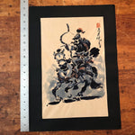 Chinese Ink Painting of Warrior and Horse | Manner of Huang Zhou