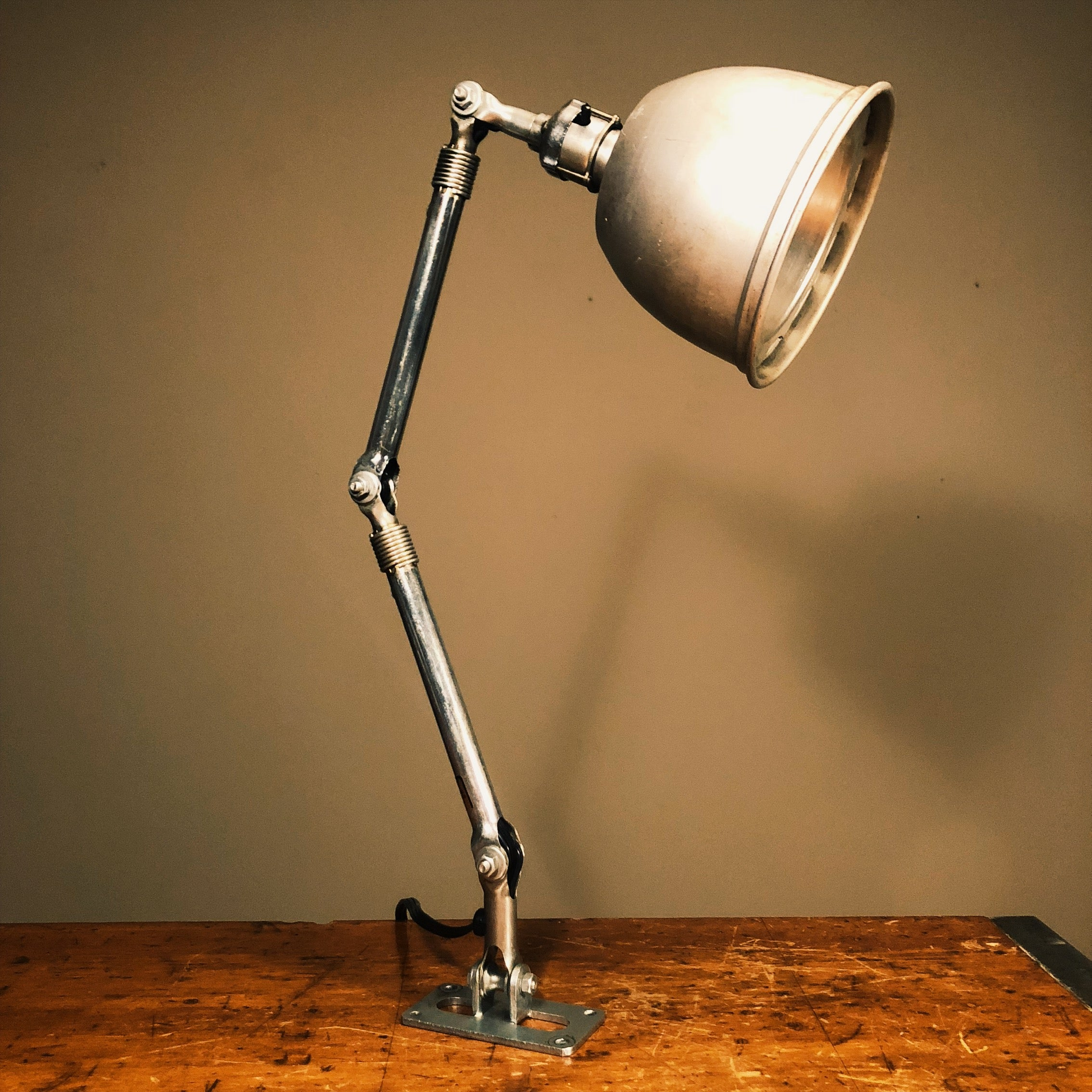Vintage Ajusco Industrial Light with Insulated Shade and Wall Mount 2