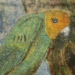 "Head of Vintage Painting of Tropical Parrot Attributed to John Beauchamp - 1950s Oil on Canvas - 13"" x 11"" - Beach Artwork - Folk Art Paintings"