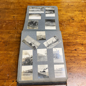 Ship liners from Antique Photo Album from Early 1900s - Indian Motorcycle - Car Racing - Railroad Photography - Camping - Military - 138 Photographs