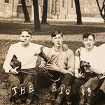 Antique RPPC of Band with Shoe Message - Early 1900s - Set of 2 Unused - Unusual Photograph - Rare College Music Group Photography  - Funny
