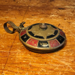 Vintage Brass Roulette Ashtray from 1950s