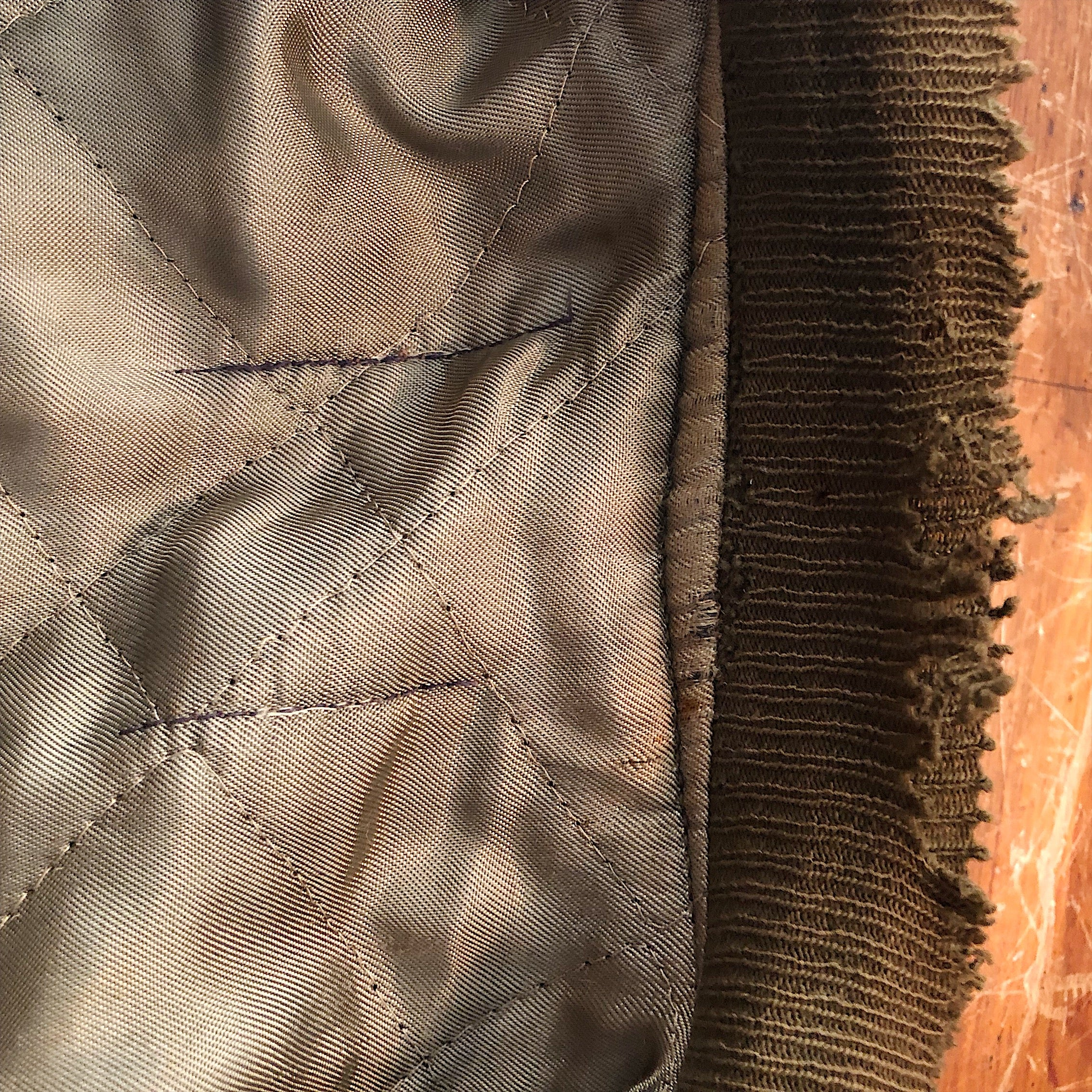 Waist band fraying  on Authentic WW2 Tanker Jacket