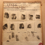 Prison Fingerprint Display from Panama Pacific Exposition - 1915 - Law Enforcement Collectible - Police Memorabilia - Early 1900s