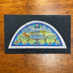 Steven Frank Studios Stained Glass Archive - 1970s - Original Design Art - Vintage Glasswork - Reference Documents - Rare California