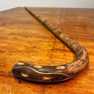 Antique Folk Art Walking Cane | Early 1900s Stick