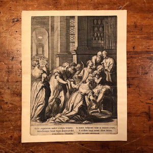 "Early Ralph Sadeler Engraving ""S. Elisabetha Andecensis"" after Matthias Kager - Rare First Edition - 1600s - St Elisabeth of Hungary"