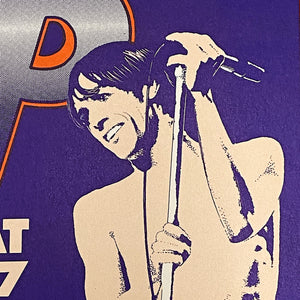 Iggy Pop Concert Poster by Gary Grimshaw | Artist Signed 1988