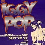 Iggy Pop Concert Poster by Gary Grimshaw - Artist Signed Print 1988 - Bookie's Club Detroit - 28 x 18 - 1980s Rock Posters - Limited Edition