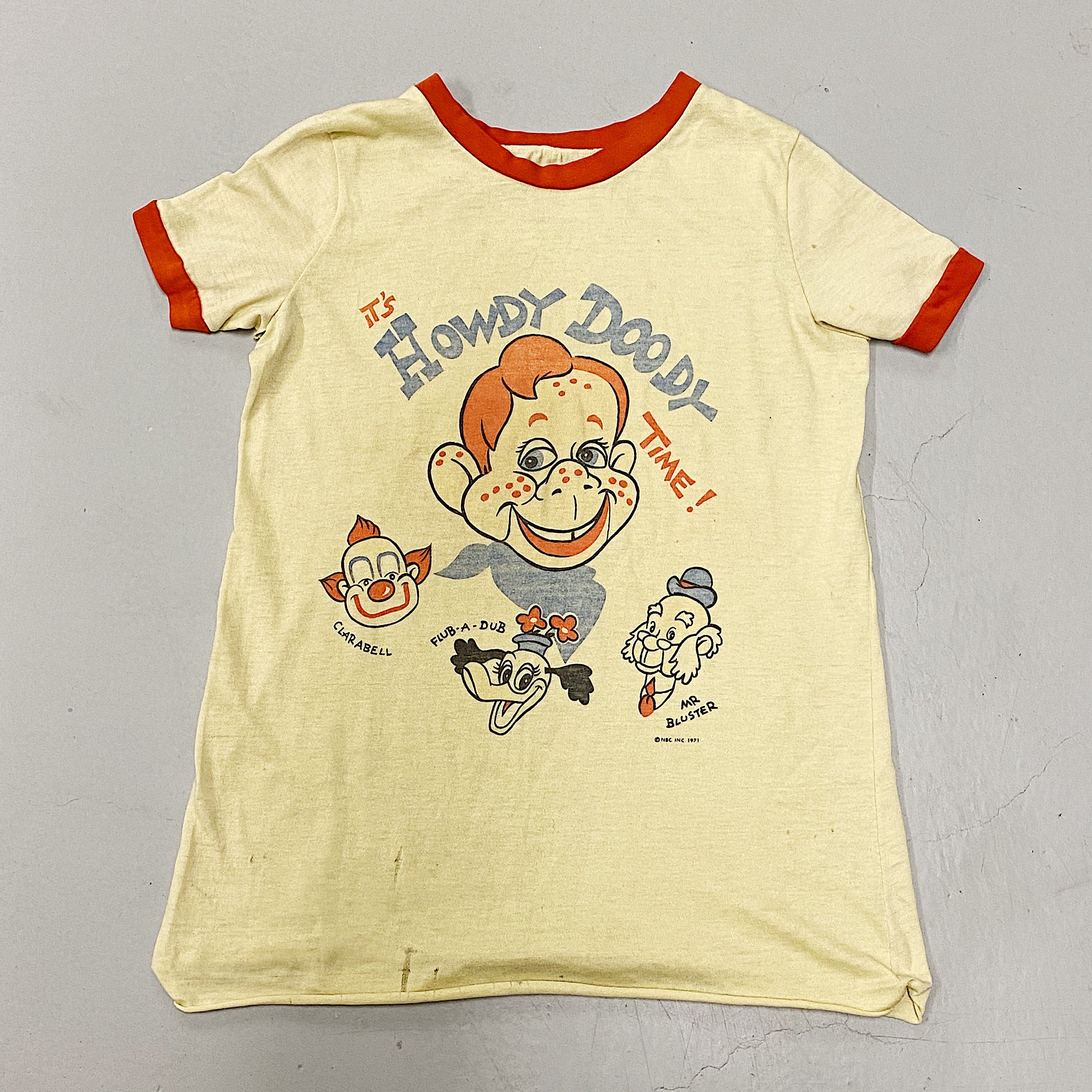 Vintage Howdy Doody Shirt - 1971 NBC - Hipster Apparel - Rare 1970s Apparel - Pop Culture Shirts - Television Promo
