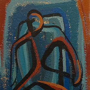 1950s Mod Painting of Abstract Figure | Mystery Artist