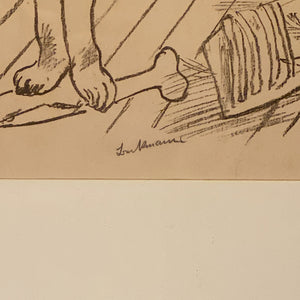 Signature of Max Beckmann Signed Lithograph - Lowenpaar - Lion Couple - 1921 - Rare Pencil Signed Limited Edition - Degenerate Art - German Expressionism