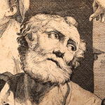 Giovanni Battista Dotti Engraving of The Denial of St. Peter - 1670 - After Lorenzo Pasinelli