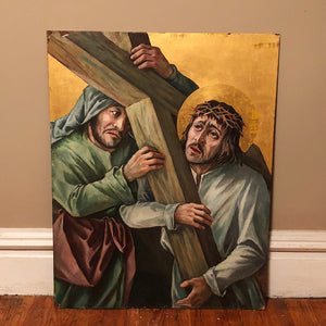 Vintage Painted Panels of Stations of the Cross