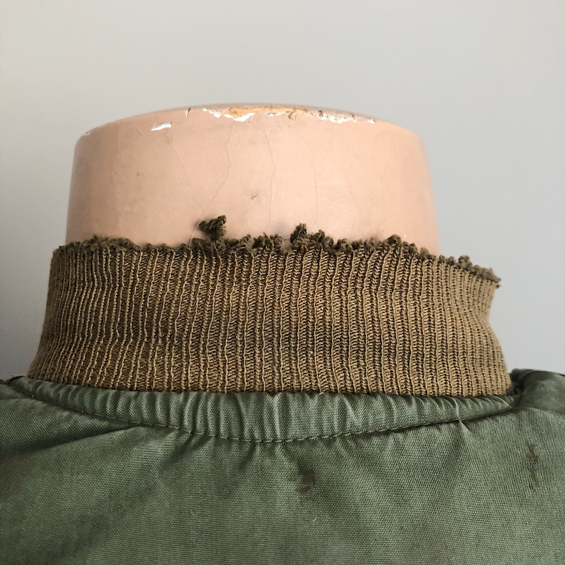 Authentic collar wear from WW2 Tanker Jacket