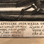 Early engraving Domenico Maria Bonaveri after Giovanni Battista Bolognini