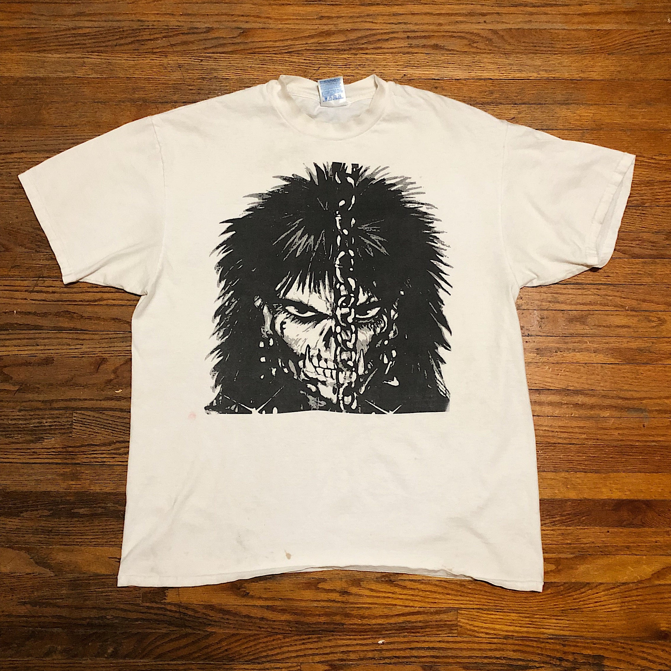 Vintage Punk Goth T-Shirt from the 90s - XL - The Crow Comic - James O'Barr - Hanes Beefy-T Tag - Skull Figure