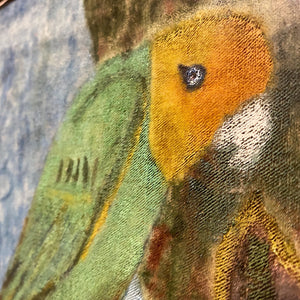 Vintage Painting of Tropical Parrot | John Beauchamp 1950s