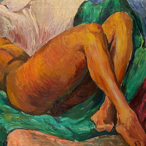 WPA Era Painting of African American Nude Woman