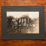 Antique Photographs of Orchestra - Early 1900s - Set of Three - Unusual Musical Photography - Campus Photos - Rare Music Images in Weeds