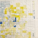 "Rare 1920s Oil Field Map with Hand Painted Land Rights Grids - Louis W. Hill Estate - 53"" x 37"" - Huge Wall Art - Early Data Visualization  Minnesota History"