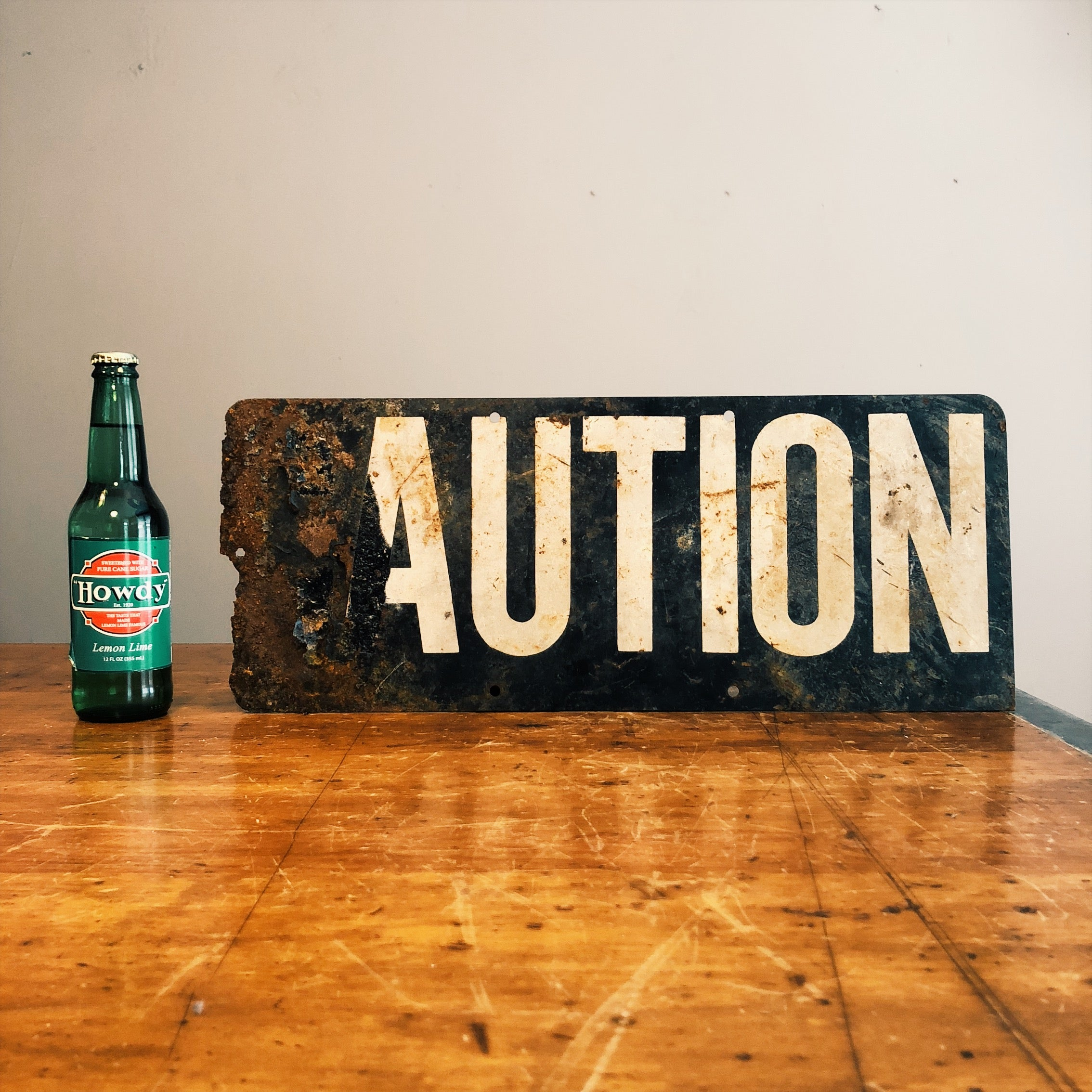 Dimensions of Vintage Caution Railroad Sign