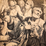 Giovanni Battista Dotti Engraving of The Denial of St. Peter - 1670 - After Lorenzo Pasinelli - Rare Early Etching