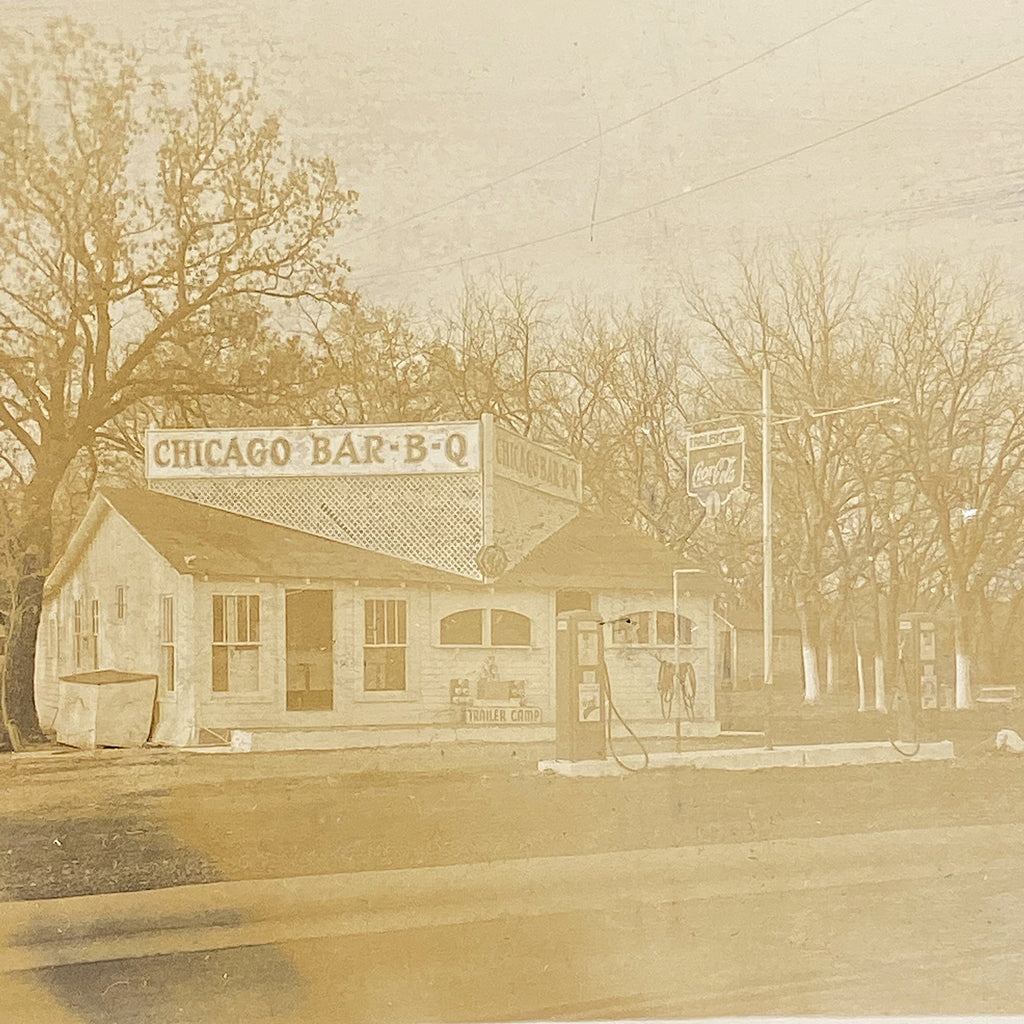 Al Capone Syndicate Payoff Locale Photograph - 1930s - Cicero Illinois - Rare Antique Mobster Photo - Jake Guzik - Greasy Thumb - Sepia