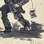Original Hobo Painting on Card Stock | B.F. Egan