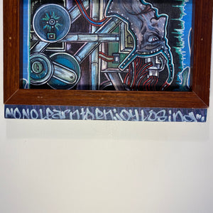 Street Art Painting on Canvas Board | 1990s Minneapolis