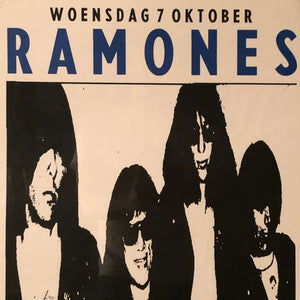 Rare Ramones Poster from Amsterdam Concert - 1987 - Punk Rock Memorabilia - New York Music Scene - Paradiso - European Tour