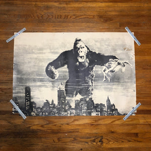 Vintage King Kong Poster from Original 1930s Film