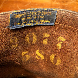 50s Gokeys Botte Sauvage Leather Boots Tag Men's Engineer Motorcycle Biker Chopper - Size 10.5? - Vintage/ Hand Sewn Blue Label - Moc Toe