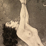 Nude Woman in Edouard Chimot Etching of Woman in Bondage - 1920s - Role Reversal - Rare French Print - Drawings - Risque Underground Art  - Bondage