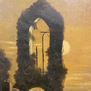 Gothic Oil Painting of Haunting Ruins | 19th Century Regionalist Art Blair Witch Project