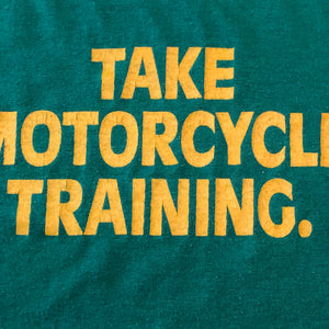 Vintage Motorcycle Safety Training T Shirt from 1980s | XL