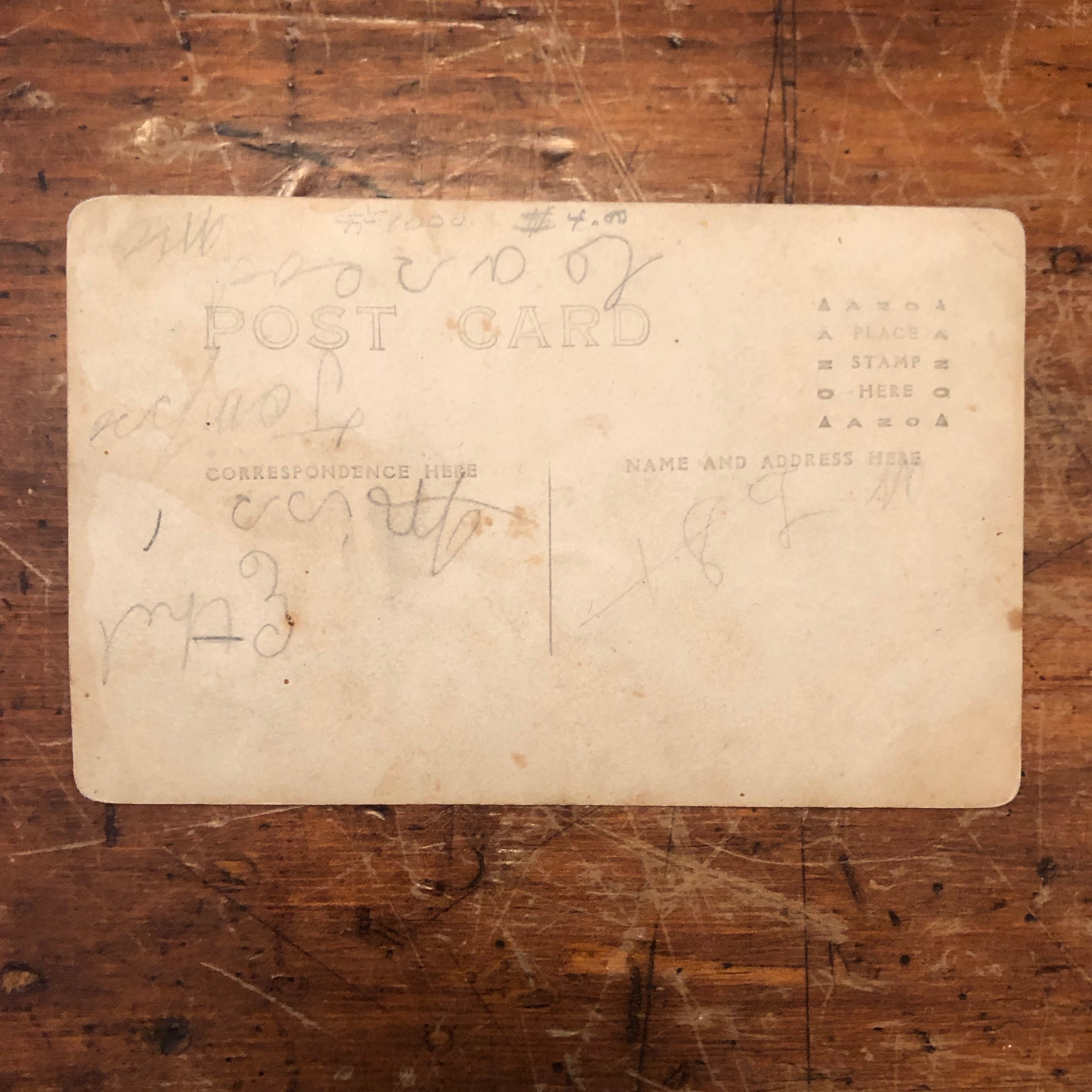 Antique RPPC of Gambling Card Game | Early 1900s