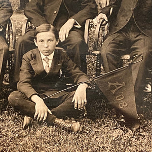 Boy with Pennant Antique Photographs of Orchestra - Early 1900s - Set of Three - Unusual Musical Photography - Campus Photos - Rare Music Images