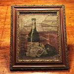 Rare Moonshine Gambling Still Life Oil Painting - 1800s - Antique - Kentucky - Poker - Cards -19th Century- Mystery Artist