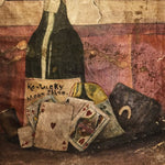 Moonshine Gambling Oil Painting from 1800s | Still Life