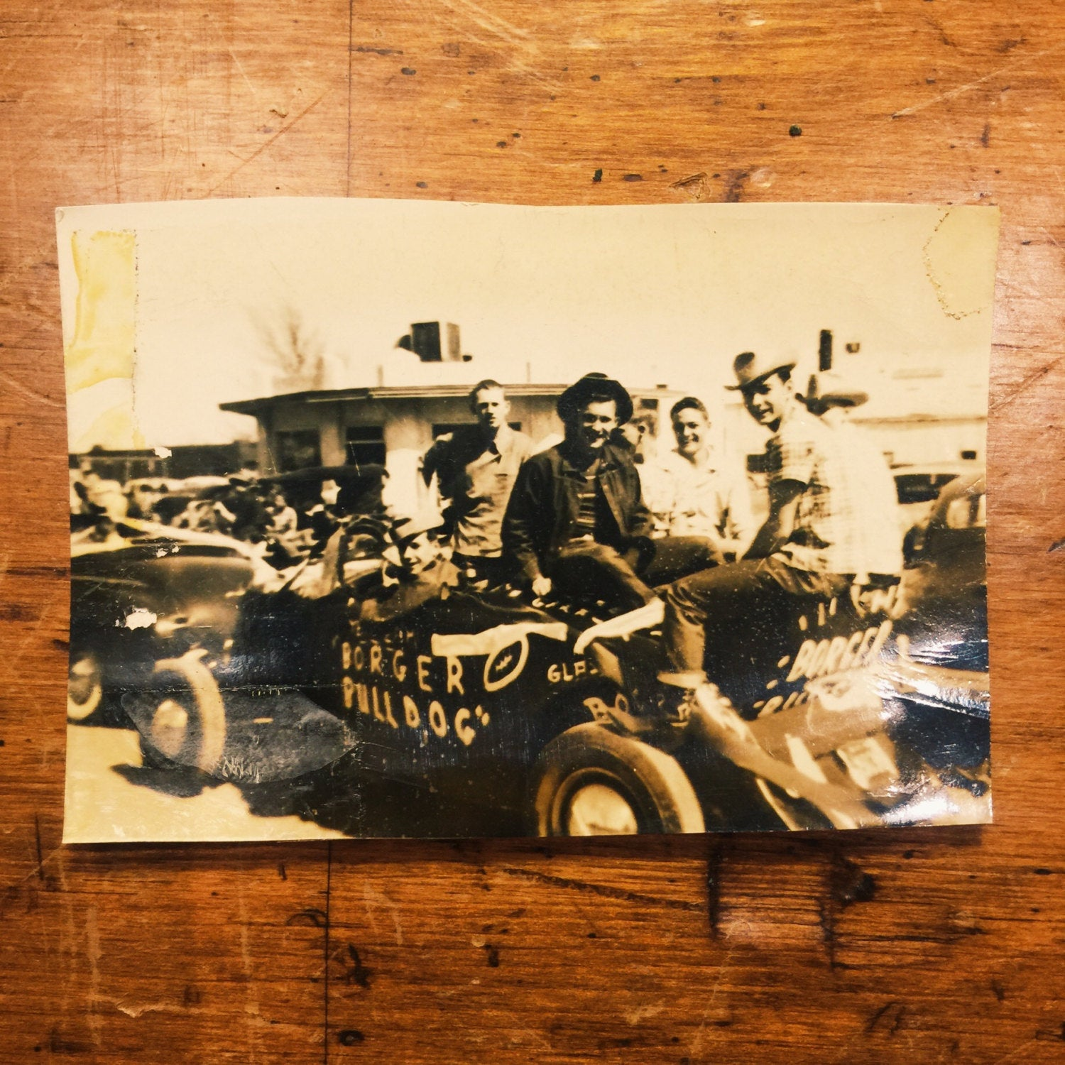 Antique Rat Rod Photograph - Texas - 1940s - Sepia - Coupe - Selvedge Jeans - Boots - Bulldog - Hipster -Denim