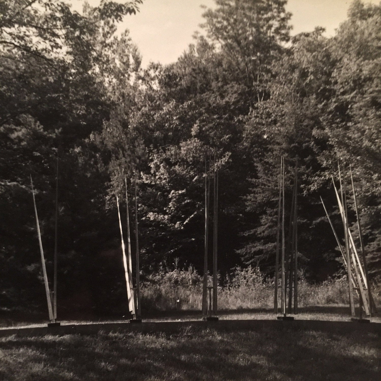 George Rickey Kinetic Sculpture Photograph - Marked Studio Estate Collection - Peristyle - Six Lines - Rare - East Chatham New York