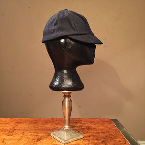 Vintage Welder Cap - Union Made - Dark Blue Black - 1950s? - Vintage Beanie Cap - Size 7? - Medium?