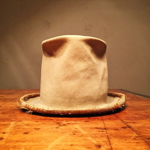 Rare Antique Felt Top Hat - Wool? - Late 1800s - Steampunk Hat - Americana - Custom Hat - Size 7?