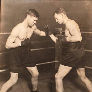 Rare Boxing Photography Display 1920s - St. Paul Boxing History - Boxing Memorabilia - Boxer Estate - Sparring -Framed Boxing Photos
