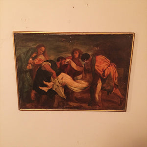 Old Master Painting after Titian - Entombment of Christ - 19th Century - 1800s - Religious Painting - Ribot - Crucifixion Scene