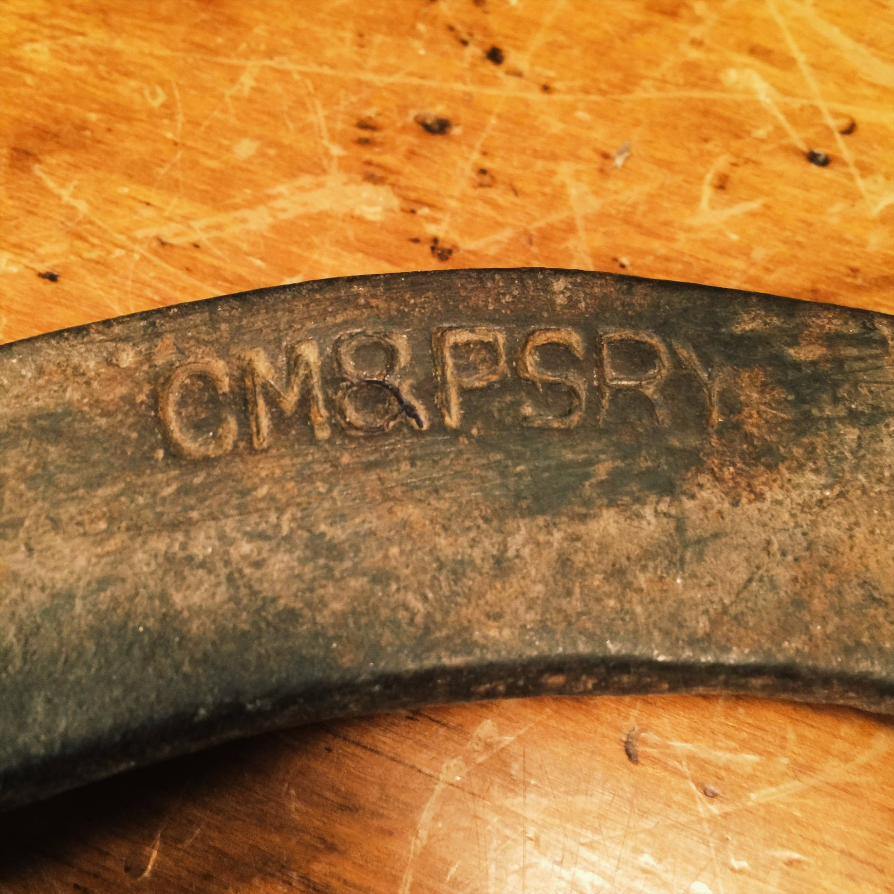 Rare CM&PSRY Railroad Wrench - Chicago Milwaukee Puget Sound Railroad - Milwaukee Road - Open Ended Curved - Railroad Collectible - 1900s