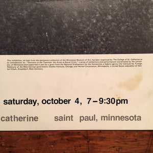 Kathe Kollwitz Exhibition Poster - 1980 - Catherine G. Murphy Gallery - Minnesota - Rare Vintage Art Poster - Self Portrait at the Table