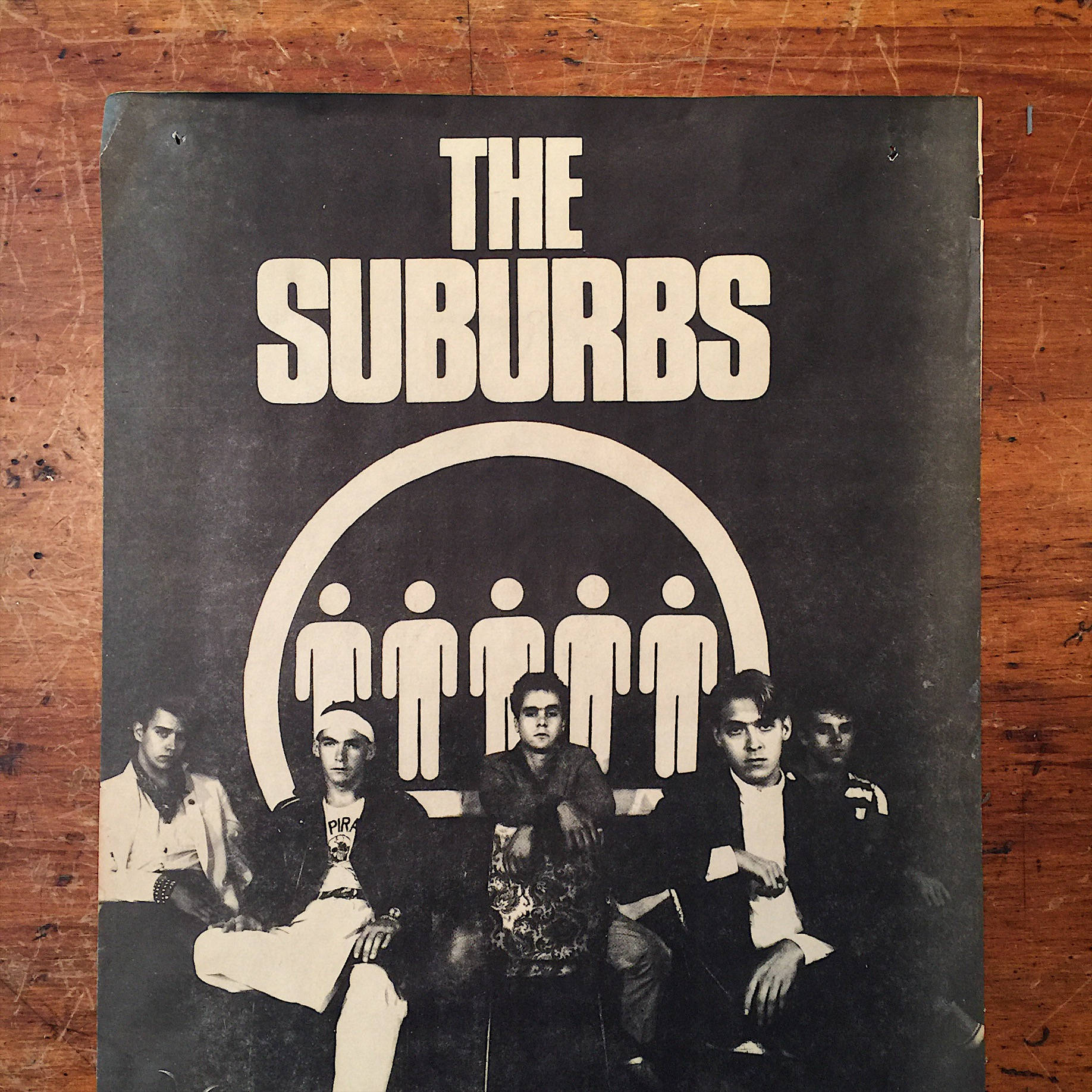 "The Suburbs Flyer Poster - Minneapolis Scene - Vintage 80s Suburbs Poster - Rare Rock Poster - 17"" x 10 1/2"" - Vintage Music Posters"
